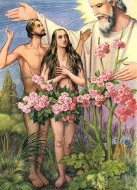 Advent workshop advent jesse tree day two adam and for Adan y eva en el jardin del eden