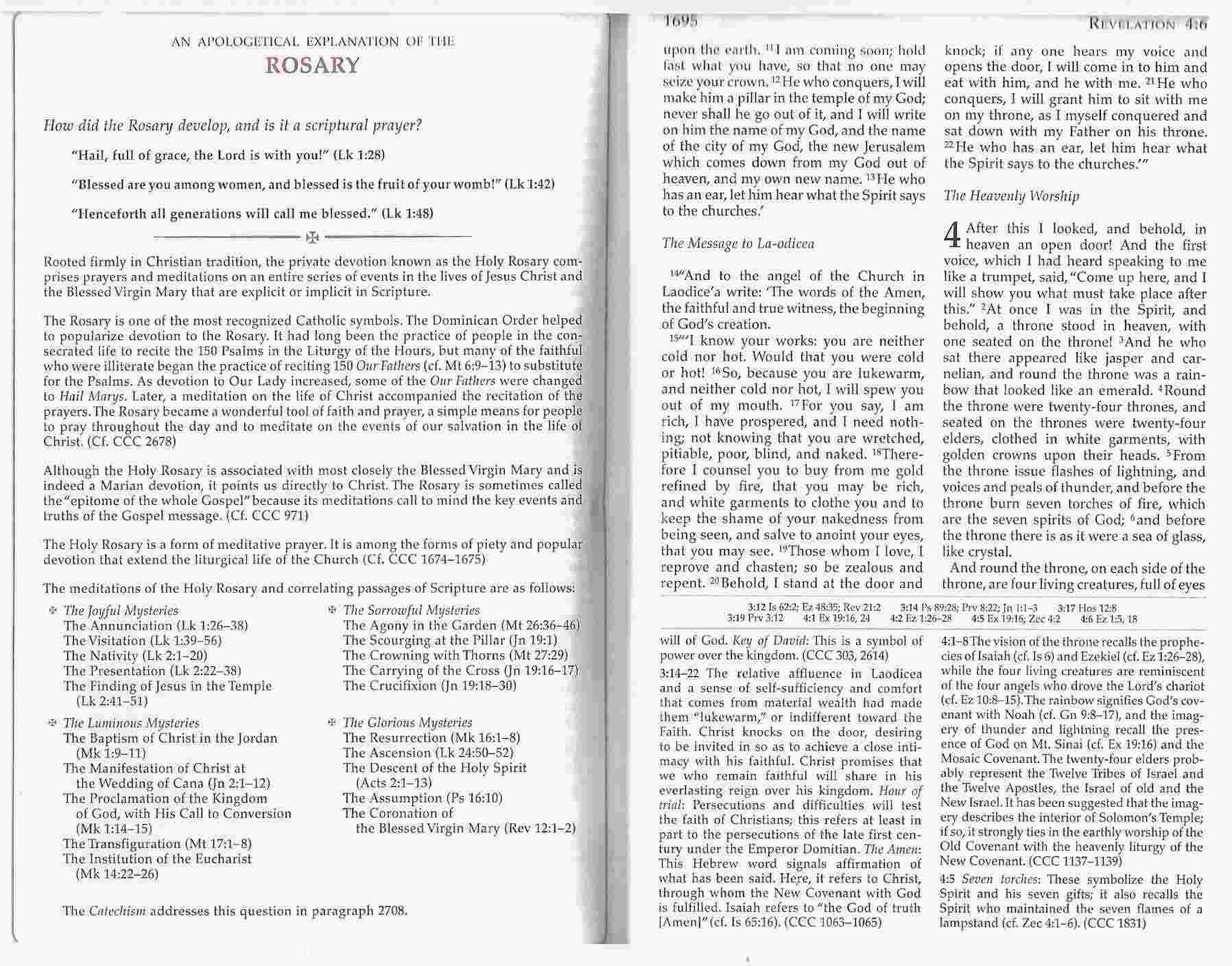 The Didache Bible Is Here Catholic Culture