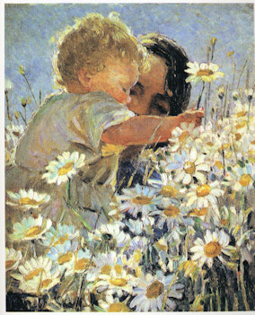 Sharp, Little Boy Picking Daisies, 1925