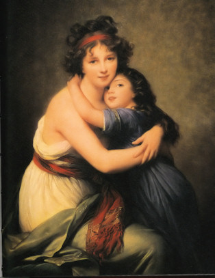 Vigée-Lebrun, Madame Vigée-Lebrun and her Daughter Jeanne Lucie Louise, 1789