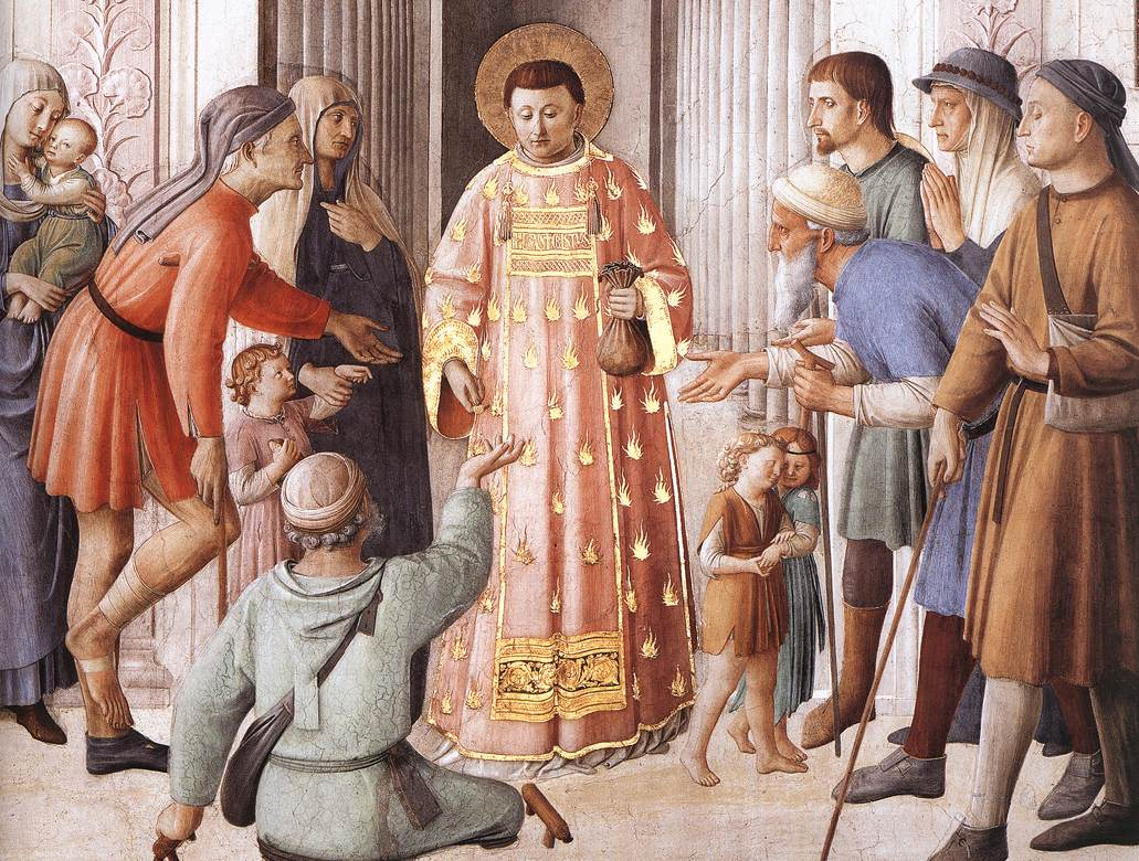 Fra Angelico St. Lawrence Distributing Alms to the Poor