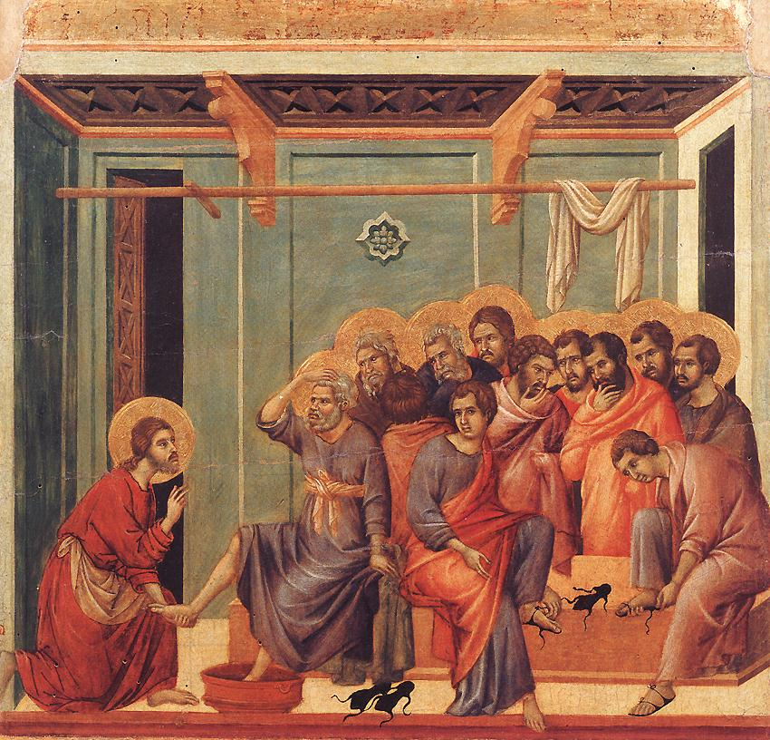 DUCCIO di Buoninsegna Washing of the Feet 1308-11