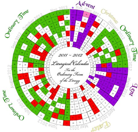Liturgical Calendar 2012-13 by Michele Quigley